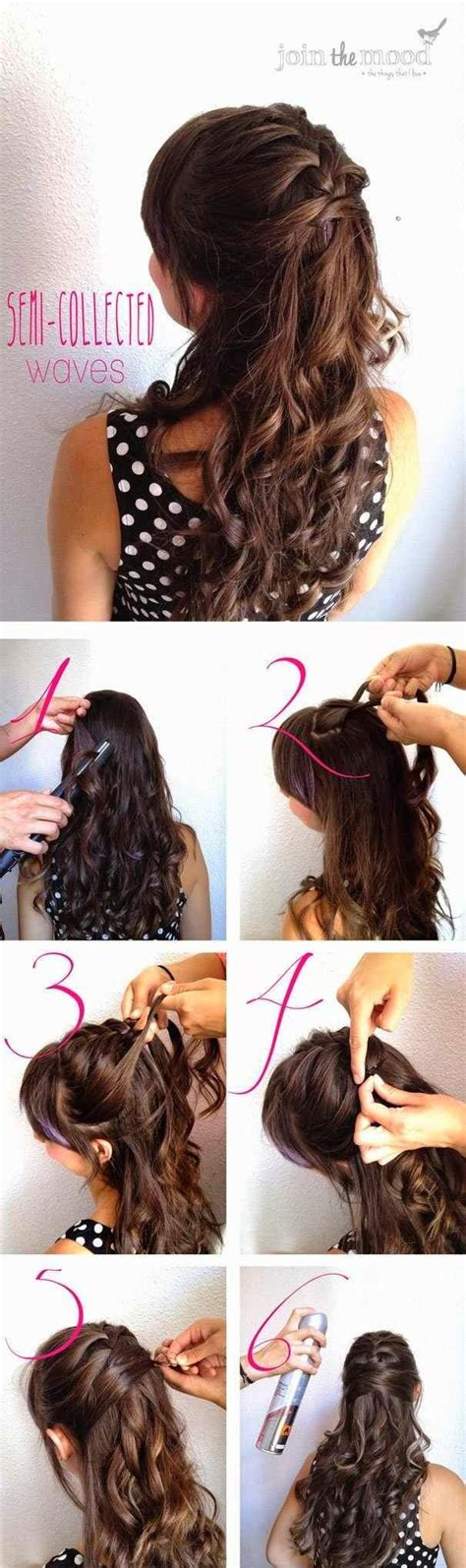 easy diy hairstyles for long curly hair fashionable half up half down hairstyles hair tutorials