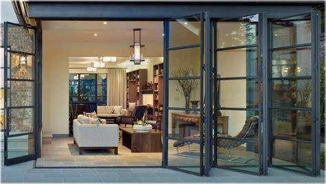 mediterranean living room with dark wood retractable glass furniture fashion12 stupendous folding sliding glass doors