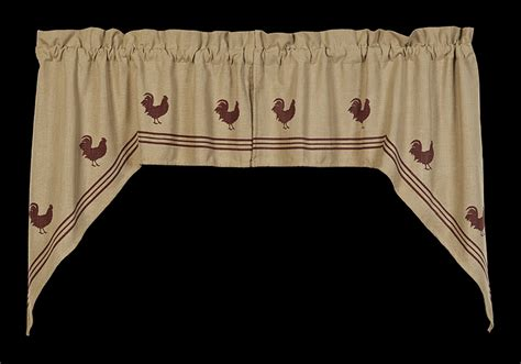 red rooster curtains red rooster window curtain swag 72 quot x 36 quot