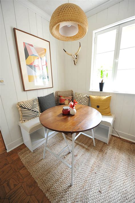 Unique Space Saving Corner Breakfast by 20 Tiny Breakfast Nooks For Two With Space Saving Goodness