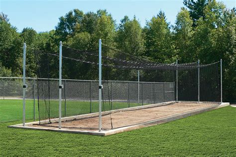 outdoor batting cage tensioned system