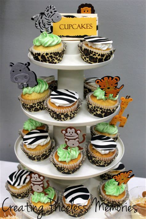 jungle baby shower cupcakes jungle baby shower