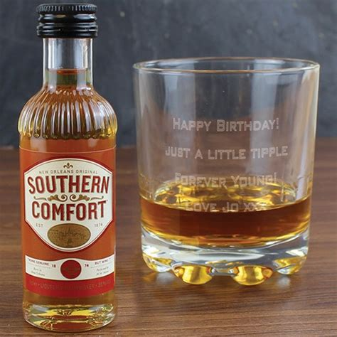 personalised whisky glass southern comfort gift set
