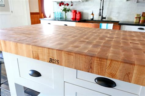 boos butcher block kitchen island 2018 the 1912 modern farmhouse kitchen remodel our boos butcher block island the daring gourmet