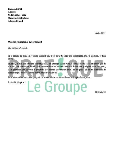 Mod Le De Lettre D Invitation D Hebergement lettre de proposition d h 233 bergement 224 un proche pratique fr