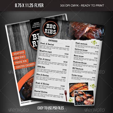 design flyer for restaurant beautiful restaurant menu templates and designs design