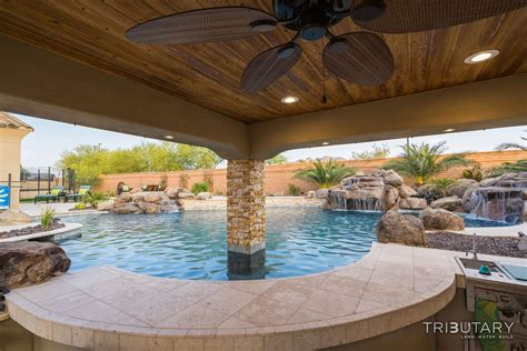 Backyard Pools In Arizona Backyard Boulder Living Tributary Pools Spas
