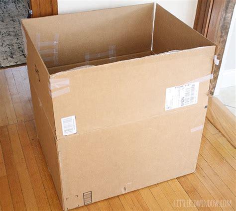 cardboard box crafts for the 45 minute cardboard box car window