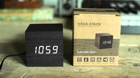 gingko cube click clock alarm sound youtube