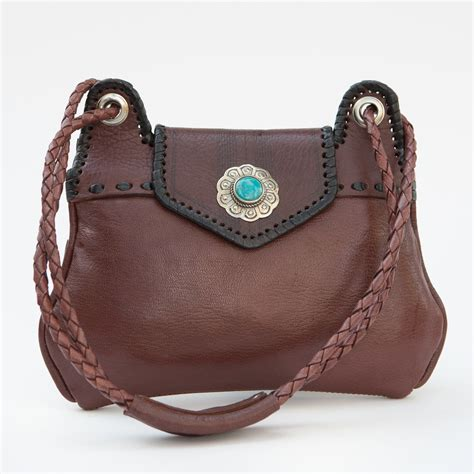 western handmade shoulder purse four winds west