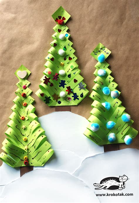 krokotak diy paper christmas trees