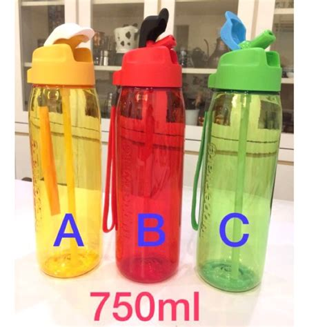 tupperware h2go bottle with straw 750ml 1 shopee malaysia