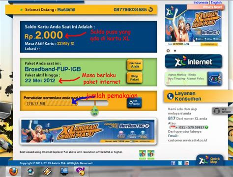 cara dapat internet unlimitted xl cara cek quota pemakaian internet unlimited xl catatan
