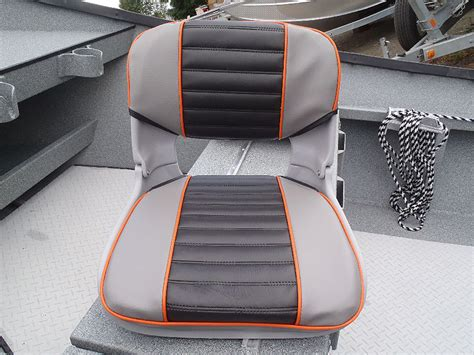 orange back to back boat seats koffler boats rocky mountain trout boat seat styles
