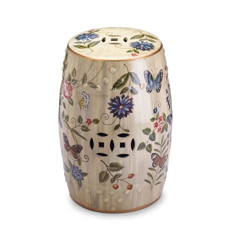 butterfly garden ceramic stool wholesale at koehler home decor