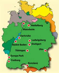 Baden Germany Map by Preview