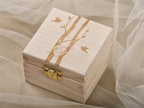 wood wedding ring bearer box rustic wooden ring box