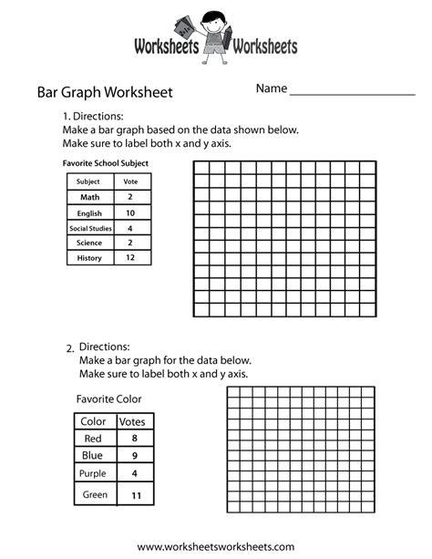 Drawing Bar Graph Worksheets