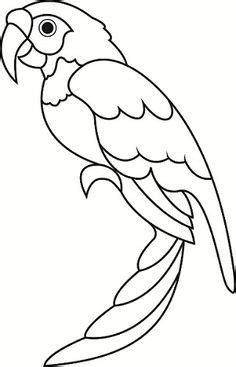 parrot template printable i wanted to make those balancing paper parrots but i