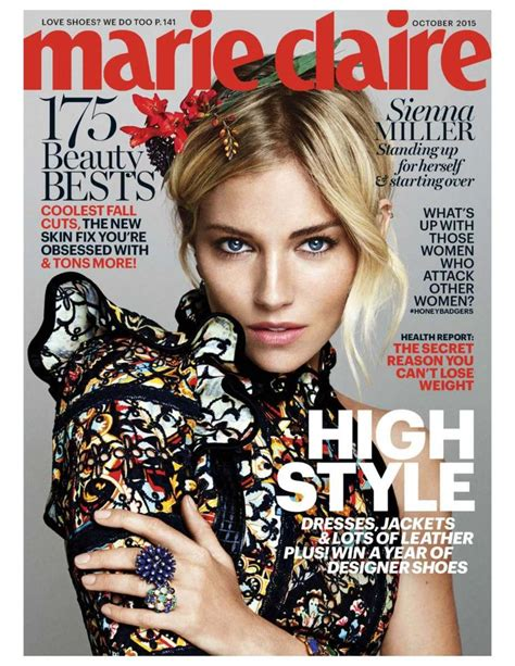 sienna miller in marie claire magazine october 2015 issue 23 best lipedema in the news images on pinterest