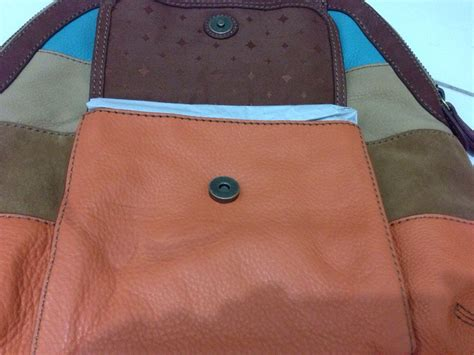 Fossil Tas Nwt With Defect fossil tate dome satchel patchwork nwt sold menjual