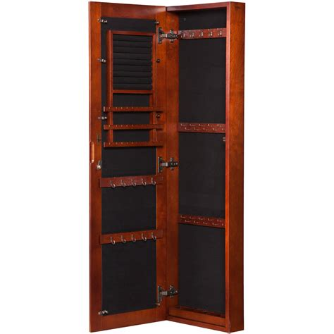 oxford jewelry armoire terrific oxford wall mount jewelry armoire with mirror in