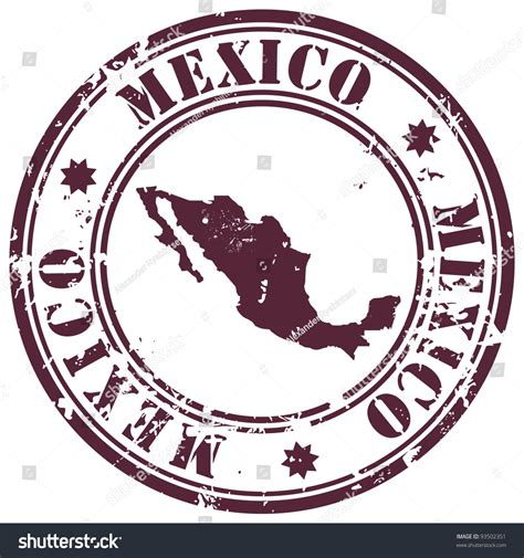 Mexico Address Lookup St With Mexico Map And Name Mexico Written Inside The St Stock Vector