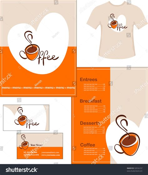 t shirt business card template template designs menu tshirt business card stock vector