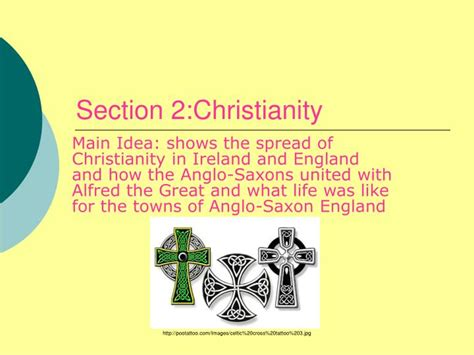 sections of christianity ppt irish and the anglo saxons abby molly and teddy