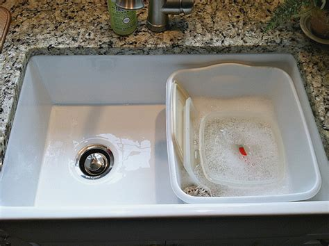 washing dishes in bathroom sink our farmhouse sink tips to clean and care for porcelain