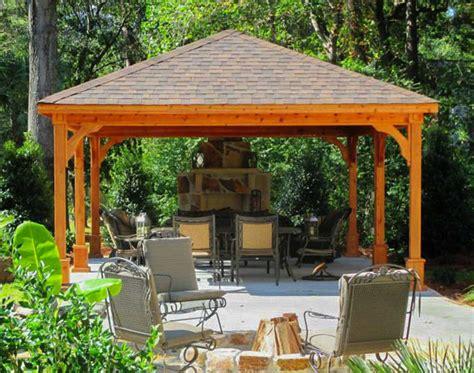 gazebo 4x6 cedar gable roof open rectangle pavilions pavilions