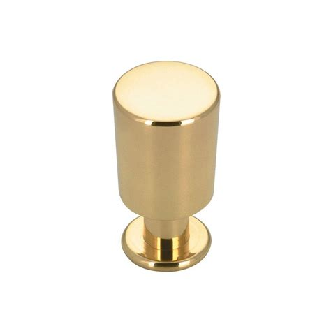 Richelieu Hardware Contemporary And Modern 5 8 In Brass Modern Kitchen Cabinet Knobs