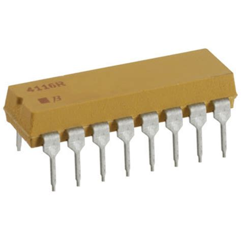 resistor dip 4116r 1 103 bourns resistor thick net 10k ohm 2 2 25 watt 177 100ppm 176 c isolated 16 pin
