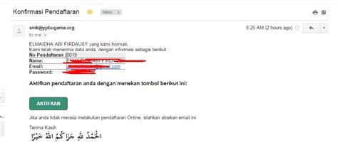 email verifikasi berbagi tutorial cara pendaftaran online ppdb ypbu smk