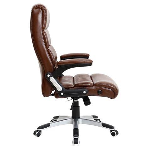 reclining executive desk chair havana brown luxury reclining executive leather office