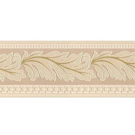 gold wallpaper trim graham brown 5 in gold leaf textured prepasted wallpaper