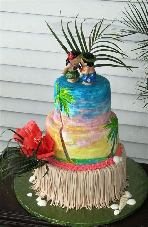 Wedding Cake Hawaii by Hawaiian Wedding Cake Gumpaste Shells And Hibiscus