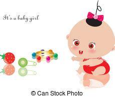 clipart nascita bambino bambino annuncio ragazza nascita scheda annuncio