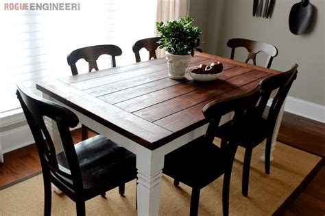 Dining Table Diy Diy Farmhouse Table Free Plans Rogue Engineer
