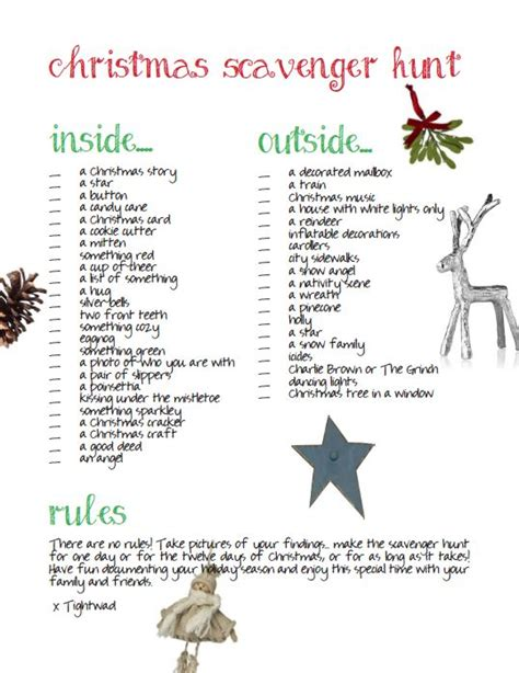 christmas scavenger hunt scavenger hunts and hunt s on