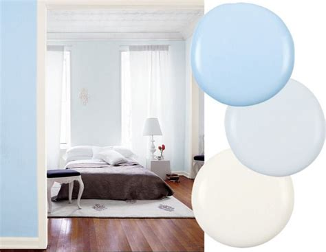 soft sky blue walls float above the white cabinetry and marble best paint color combinations pebble beach paint color