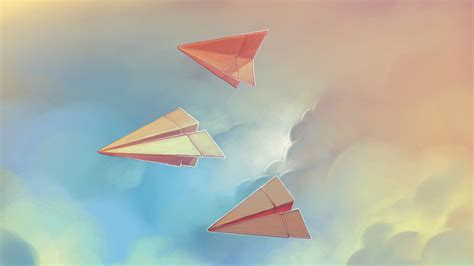 Paper Flight - paper airplanes origami wallpaper high definition high
