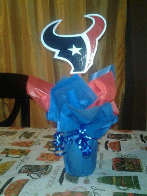 baby shower houston texans centerpiece i made for a