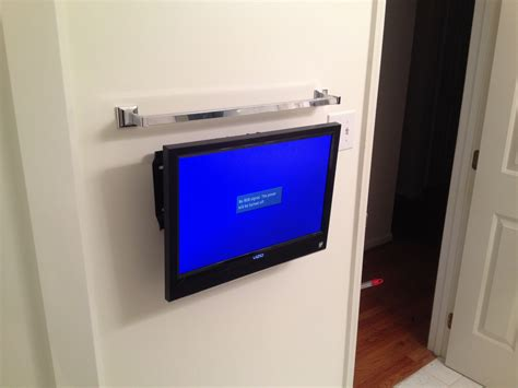 how to install tv in bathroom bathroom tv wall mount installation wall mounted tv in the