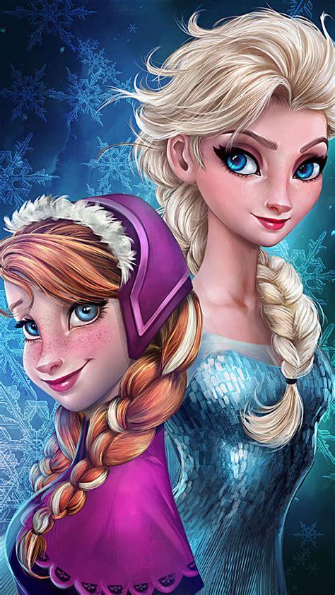 wallpaper frozen sisters frozen elsa anna digital fan art wallpapers