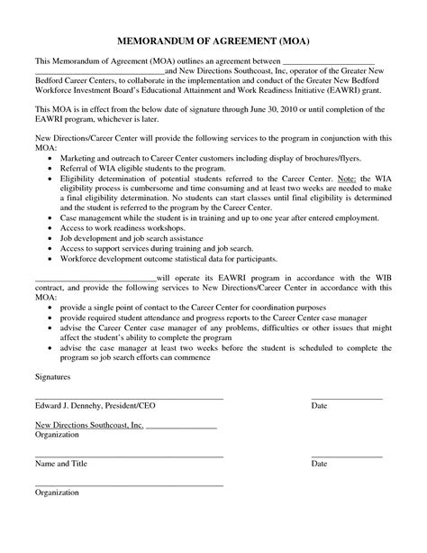 Employment Letter Of Commitment Sle How To Write A Letter Of Commitment For A Grant