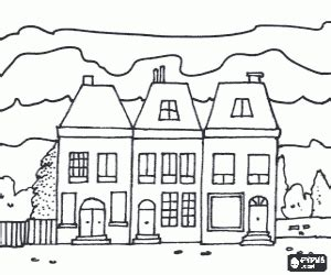 row house coloring pages row of houses clip art bing images