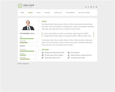 sility vcard cv resume html template free 8 best 7 more of the best vcard resume cv themes images on curriculum
