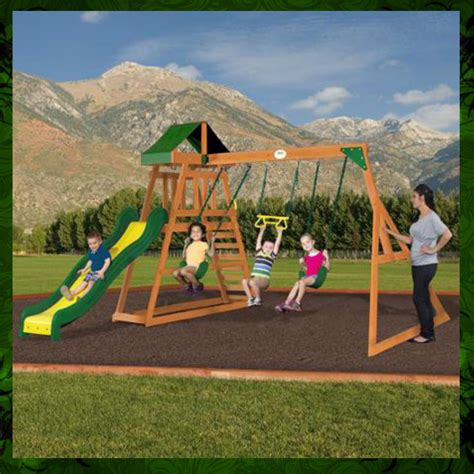 backyard swing set ideas exterior swing sets clearance ideas with grass spread for your outdoor landscape