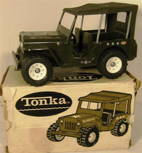 tonka army jeep vintage tonka us army jeep 2205 boxed severn